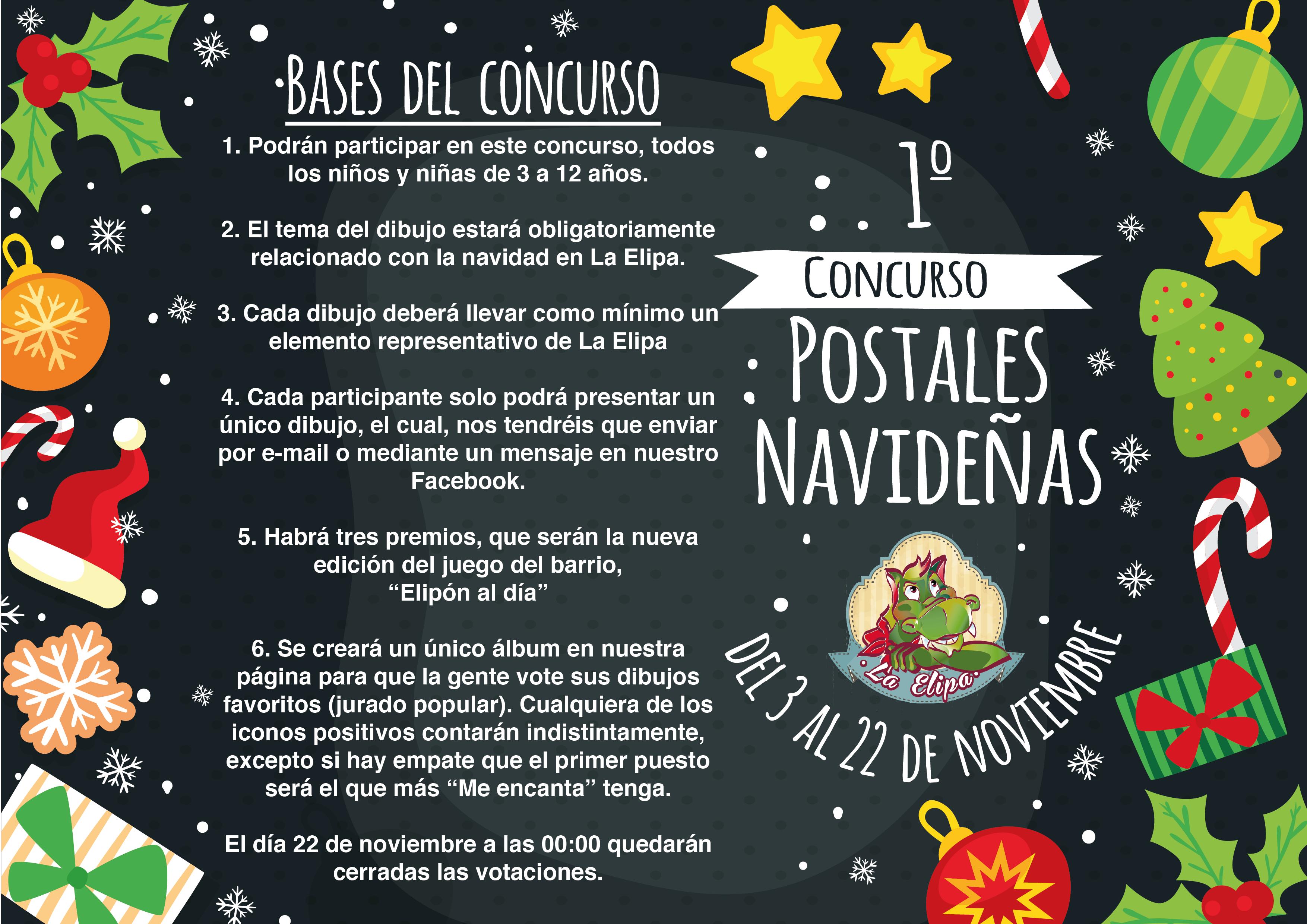 Primer Concurso de Postales Navideas  LA ELIPA SI QUE FLIPA